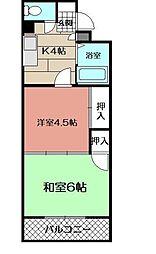 シャトレ別所[305号室]の間取り