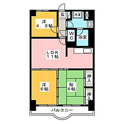 NARABU六番館[8階]の間取り