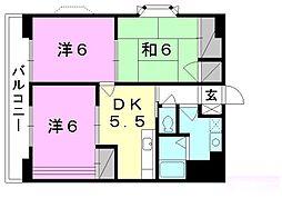 フロント・フィールド[202 号室号室]の間取り