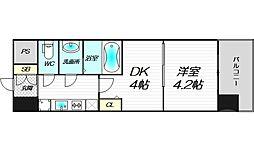 ビガーポリス346京橋2 9階1DKの間取り