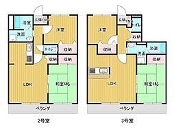 フレスコマンション 2階2LDKの間取り