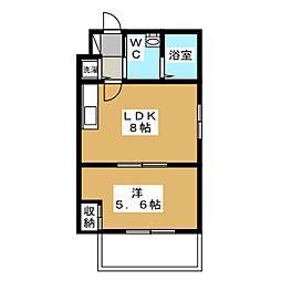 Residence西小路小米町[1階]の間取り