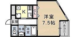JR東海道・山陽本線 芦屋駅 徒歩12分の賃貸マンション 1階1Kの間取り