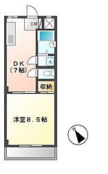東京都日野市多摩平2丁目の賃貸マンションの間取り
