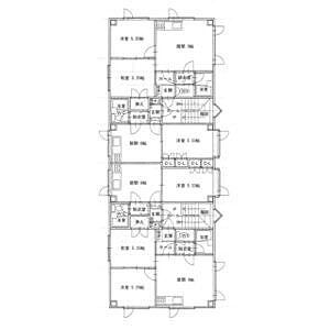 間取り,1DK,面積24.3m2,賃料2.4万円,,,北海道釧路市愛国西1丁目3-11