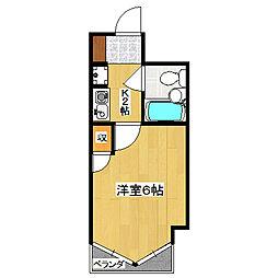 ライオンズマンション京都三条第3[5階]の間取り