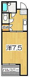 京都府京都市伏見区西堺町の賃貸マンションの間取り