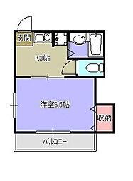 東京都東村山市久米川町4の賃貸アパートの間取り