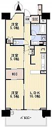 ブリリアシティ横浜磯子 H棟[1111号室]の間取り