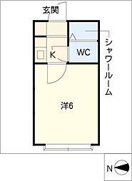 コーポリリオ[1階]の間取り