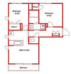 仮称)アメニティー藤沢市石川新築マンション[1階]の間取り