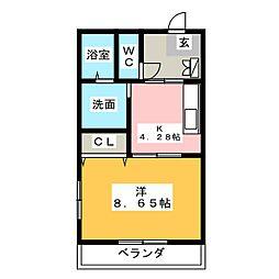 Soleil Yamane[1階]の間取り