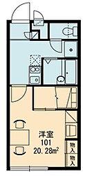 レオパレスヴィレッジ殿城[1階]の間取り
