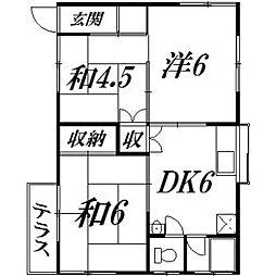 [一戸建] 静岡県浜松市東区市野町 の賃貸【/】の間取り