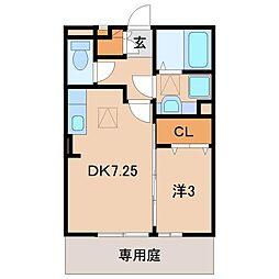 和歌山県和歌山市松島の賃貸アパートの間取り