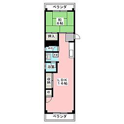 葛岡マンション[3階]の間取り
