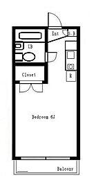 カスティル三園[1階]の間取り