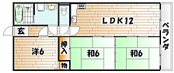 グリーンヒルズ須賀[3階]の間取り
