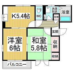 テルミー21 A棟[2階]の間取り
