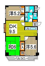 オークパレス[5階]の間取り