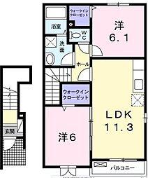 フォーチュンプレイス[2階]の間取り