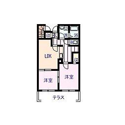 レオネクスト富士2[1階]の間取り