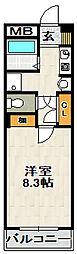 エクロル売布[1階]の間取り