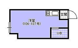 D`1  Club[107号室]の間取り