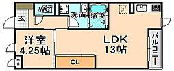 兵庫県伊丹市森本4丁目の賃貸マンションの間取り