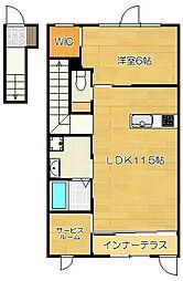 仮)朱雀1丁目新築アパート[2階]の間取り