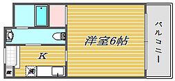 東京都板橋区三園1丁目の賃貸マンションの間取り