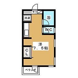 マンション F&A 2階ワンルームの間取り