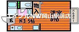 岡山県岡山市中区平井6丁目の賃貸アパートの間取り
