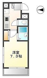 ジュネス姫路2[5階]の間取り