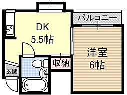 スタジオ108茨木[1階]の間取り