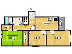 兵庫県神戸市東灘区住吉宮町6丁目の賃貸マンションの間取り