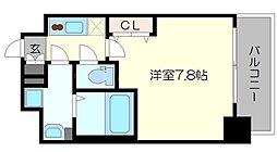 セオリー大阪ベイシティ 2階1Kの間取り