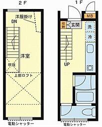 [テラスハウス] 神奈川県横浜市西区浅間町3丁目 の賃貸【/】の間取り