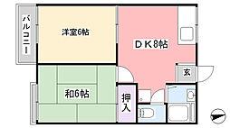 ファミーユ津田沼B棟[105号室]の間取り