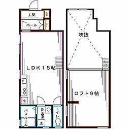 東京メトロ丸ノ内線 東高円寺駅 徒歩5分の賃貸アパート 1階1LDKの間取り