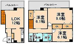 兵庫県伊丹市森本5丁目の賃貸マンションの間取り
