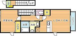 ライフサニー浅川 B棟[2階]の間取り