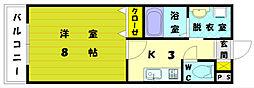 福岡県福岡市東区三苫5丁目の賃貸マンションの間取り