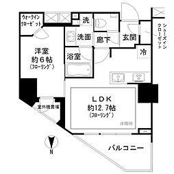 オープンレジデンシア代々木大山 9階1LDKの間取り
