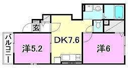 レジデンスTI A[105 号室号室]の間取り