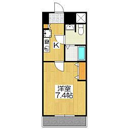 おおきに出町柳サニーアパートメント(旧 S-CREA出町柳)[405号室]の間取り