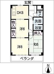 アサノハイツ[5階]の間取り