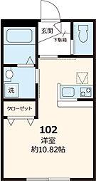 都営三田線 白山駅 徒歩7分の賃貸マンション 1階ワンルームの間取り