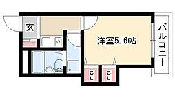 愛知県名古屋市南区内田橋1の賃貸マンションの間取り