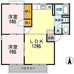 セジュール千代田[1階]の間取り